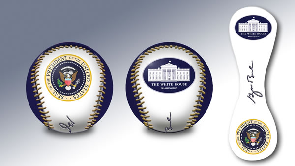GEORGE BUSH BASEBALL PRESIDENTIAL SEAL