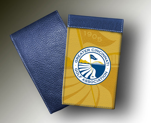 YARDAGE BOOK - CINCINNATI BLUE & WHITE ON GOLD
