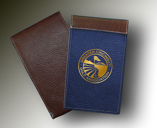 YARDAGE BOOK - CINCINNATI GOLD ON BLUE