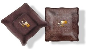 Hannon Brown Leather Valuables Tray