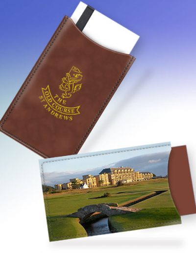 ST. ANDREWS OLD COURSE HOTEL CARD HOLDER - BROWN #2