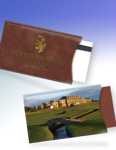 ST. ANDREWS OLD COURSE HOTEL CARD HOLDER - BROWN