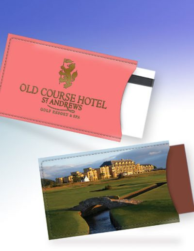 ST. ANDREWS OLD COURSE HOTEL CARD HOLDER - PINK