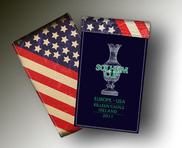 SOLHEIM CUP YARDAGE BOOK BLUE + R&W