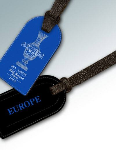 BAG TAG - 2009 SOLHEIM CUP RICH HARVEST FARMS ROYAL BLUE