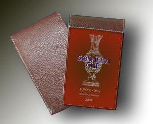 SOLHEIM CUP YARDAGE BOOK ORANGE-BROWN