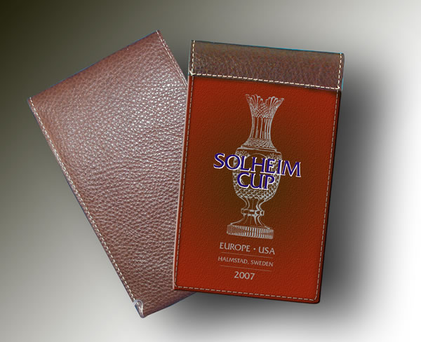 SOLHEIM CUP YARDAGE BOOK ORANGE-BROWN