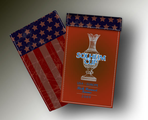 SOLHEIM CUP YARDAGE BOOK BROWN