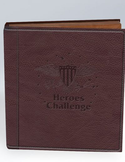 HEROS CHALLENGE BROWN LEATHER PHOTO BOOK