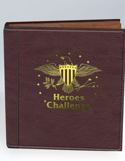 HEROS CHALLENGE GOLD FLAKE ON BROWN LEATHER PHOTO BOOK