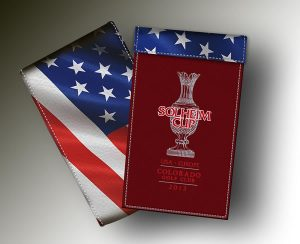 SOLHEIM CUP YARDAGE BOOK RED + B&W